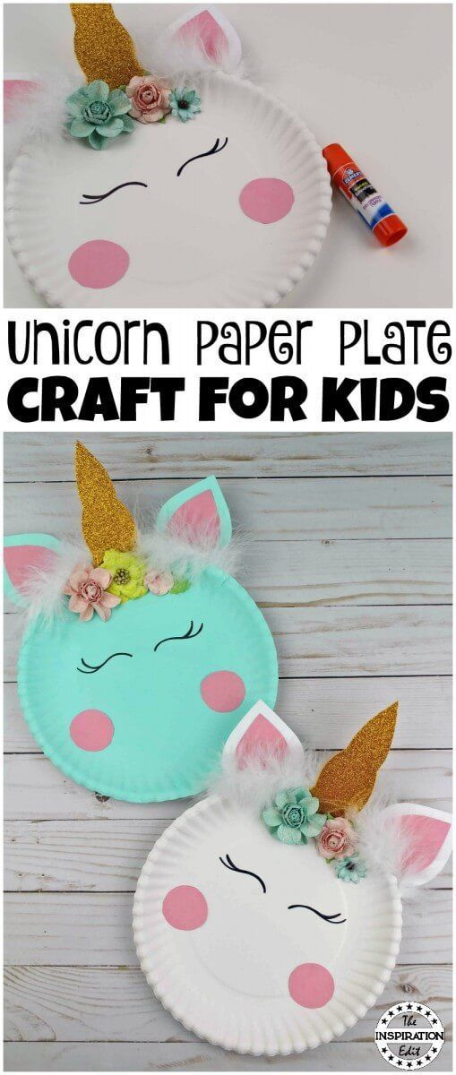 Photo of Paper Plate Crafts Easy Unicorn Craft Idea · The Inspiration Edit