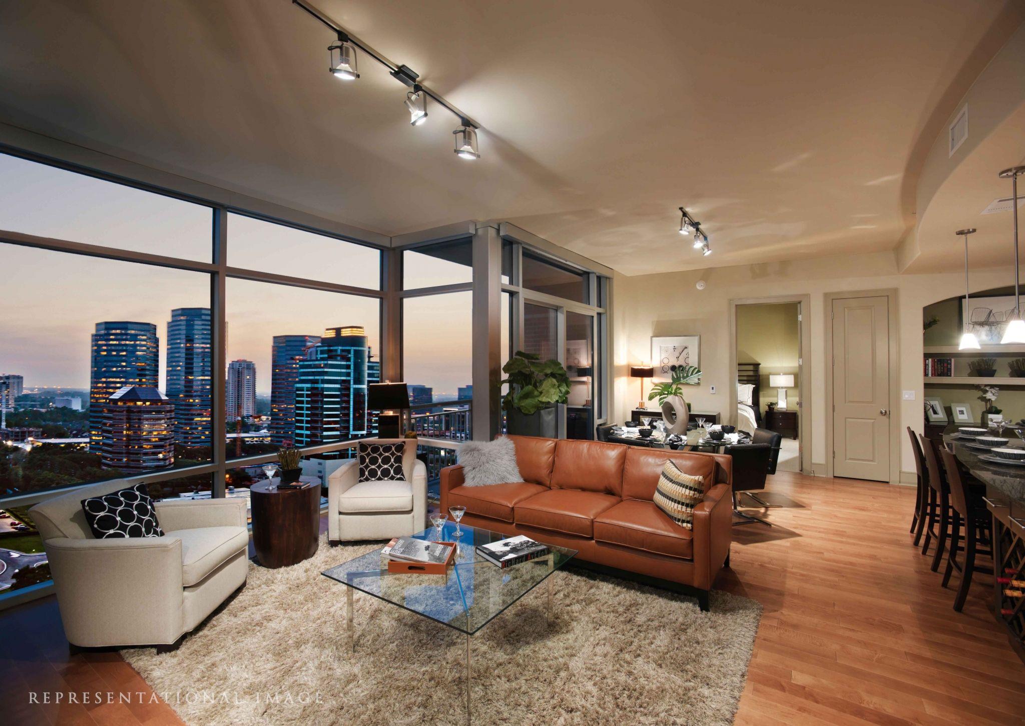 Hanover Post Oak ǀ Gallery ǀ Houston High Rise Apartments High Rise Apartments Apartment View Houston Apartment
