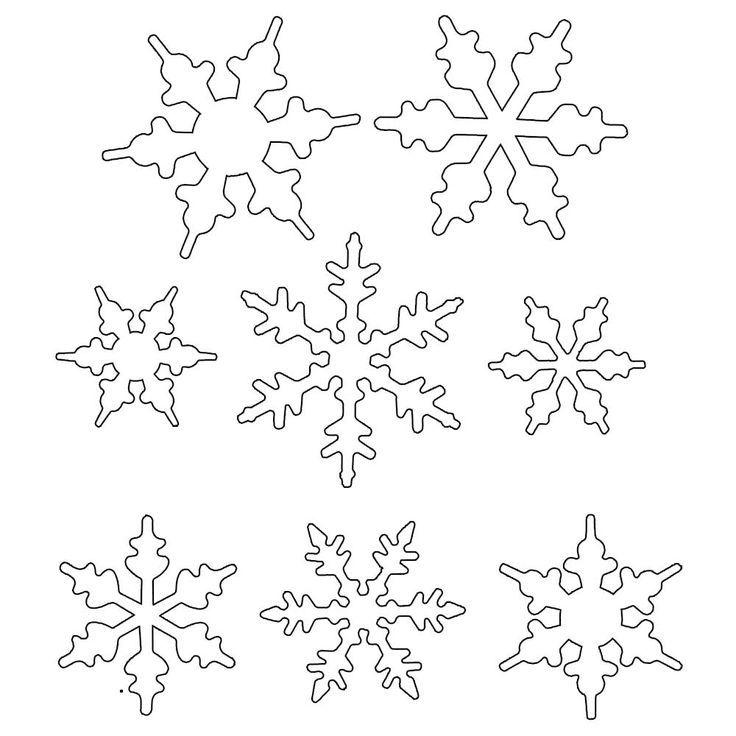 royal icing snowflake template printable  patterns for snowflake royal icing piping - Google Search ...