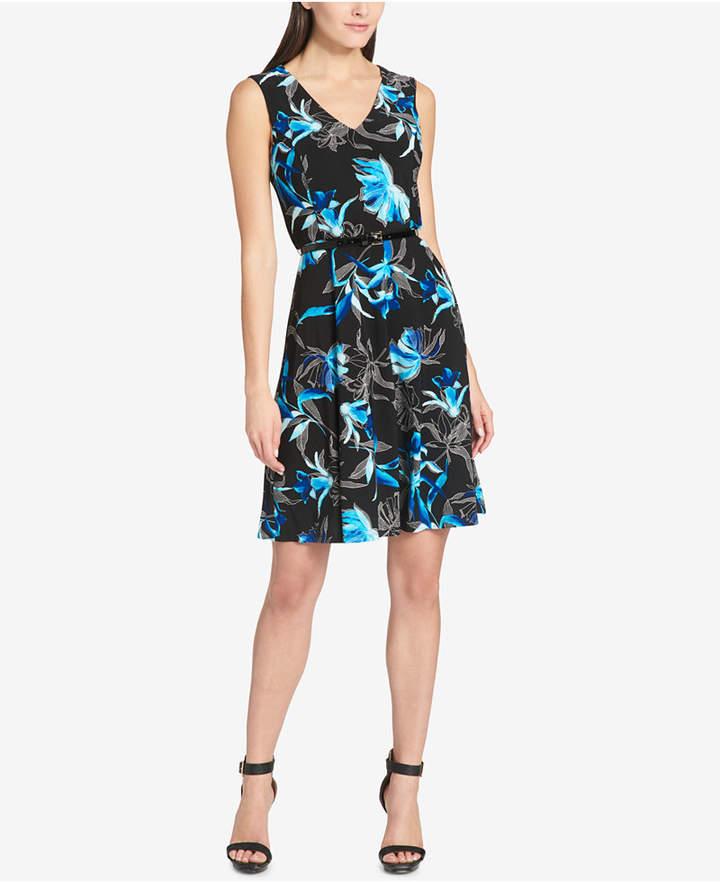 897b2449614 Floral-Print Fit & Flare Dress | Products | Fit flare dress, Dresses ...