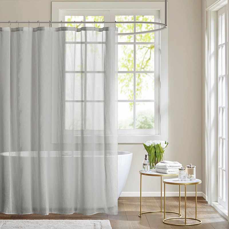 Madison Park Lydia Sheer Shower Curtain Pink Curtains Grey Bathroom Ideas