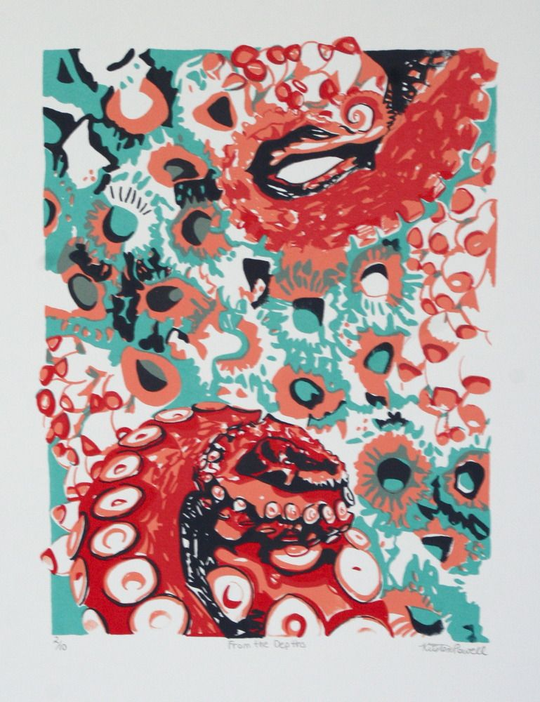 From the depths silk screen print for sale 35 silk