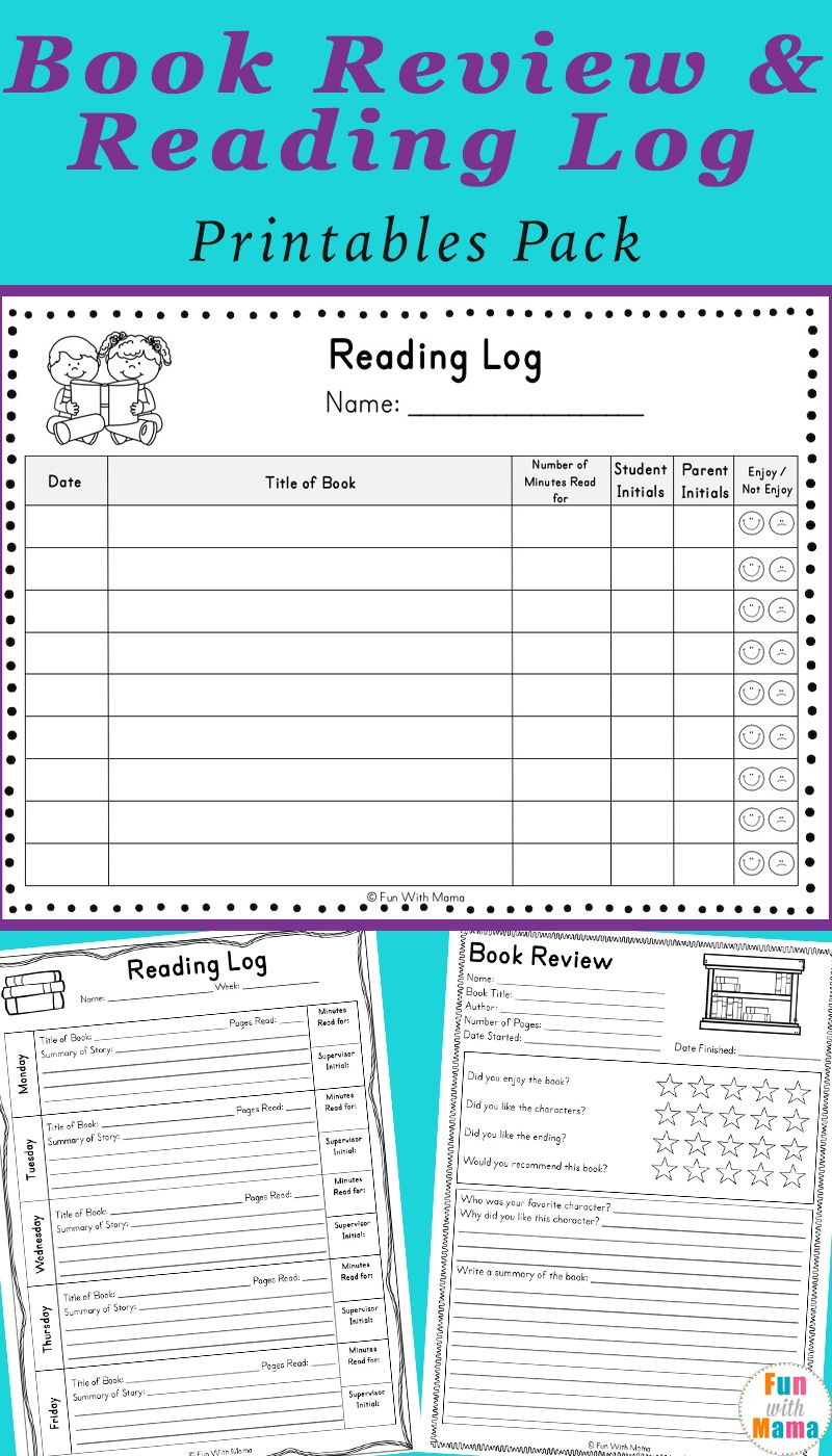 Reading Log Pdf And Book Report Templates Book Report Templates