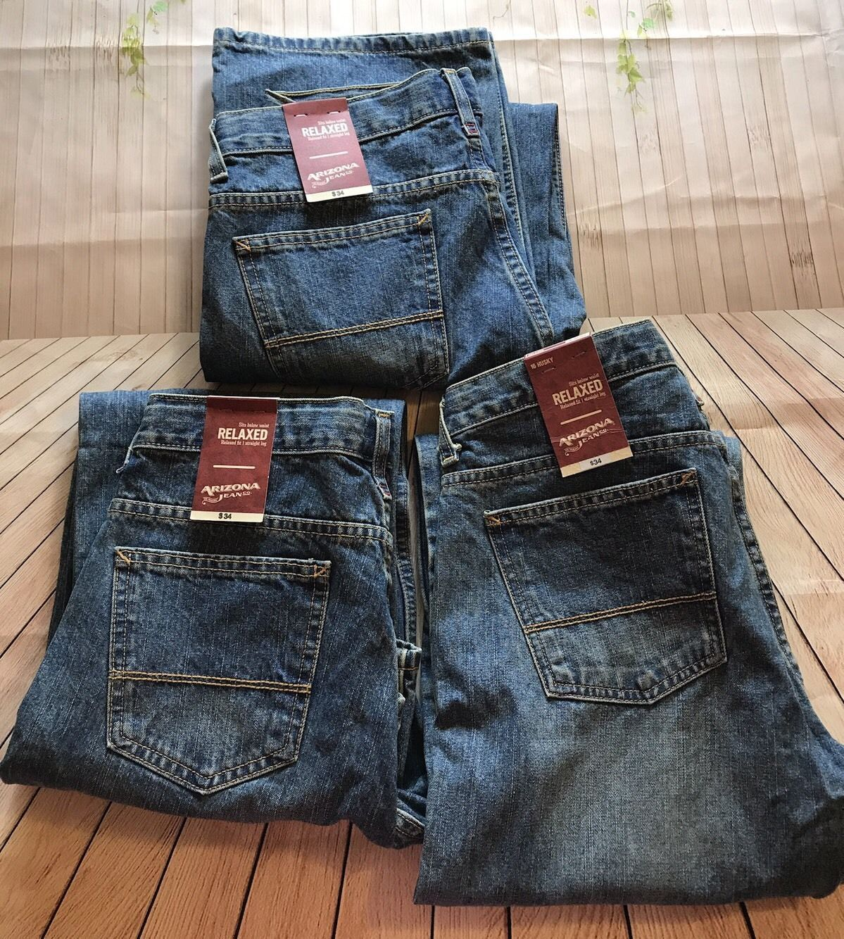 dd2c25fc9dd2b Lot Of 3 Boy s ARIZONA JEAN CO Relaxed Jeans Size 16 Husky Gift ...