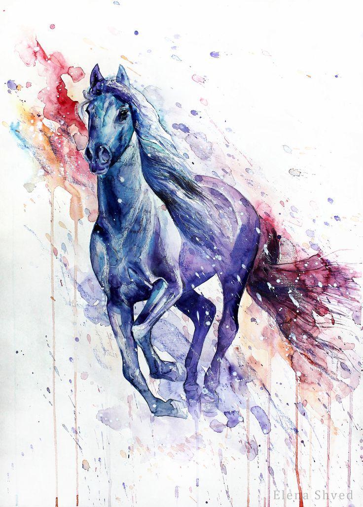 15 By Elena Shved Pferdemalerei Pferde Zeichnen Pferdekunst