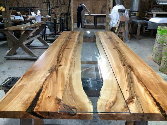 8 Maple Live Edge Table With Custom Glass Inlay Resin Etsy Live Edge Furniture Wood Slab Table Live Edge Table