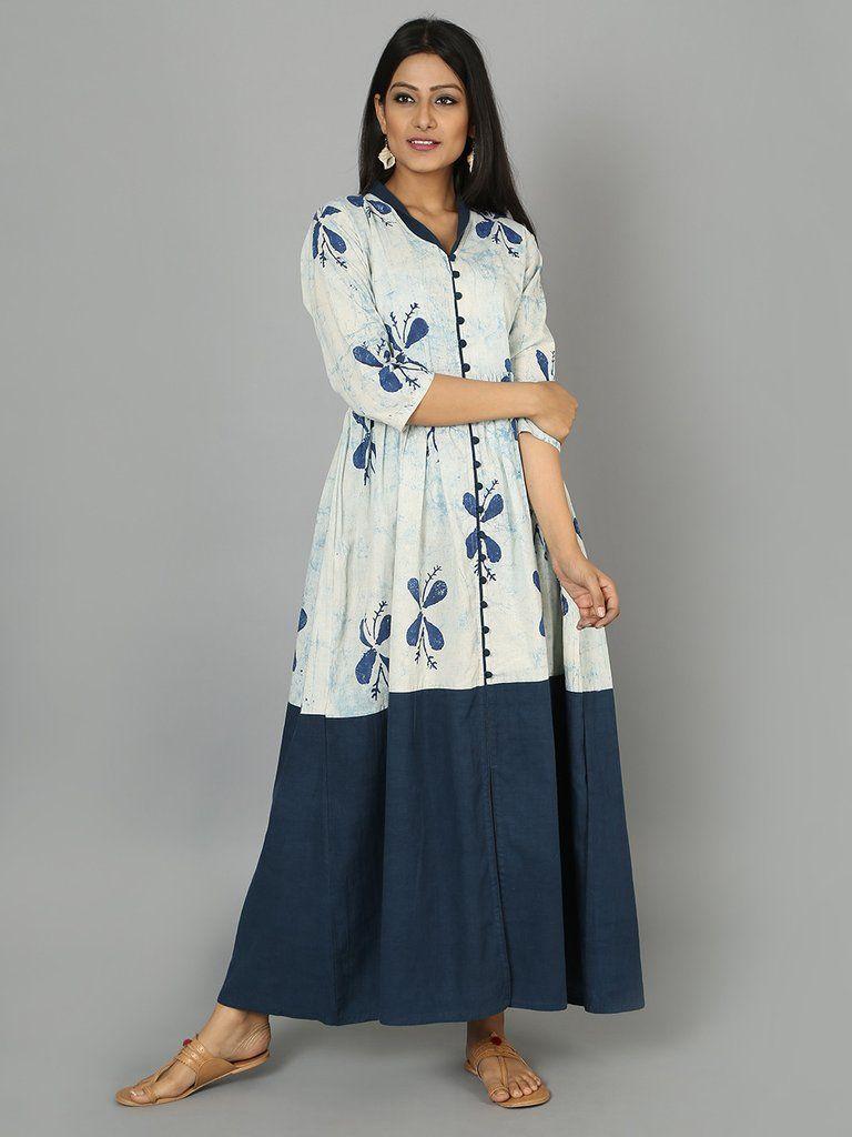 Indigo Cotton Maxi Dress Maxi Dress Cotton Clothes For Women Summer Fashion Outfits [ 1024 x 768 Pixel ]