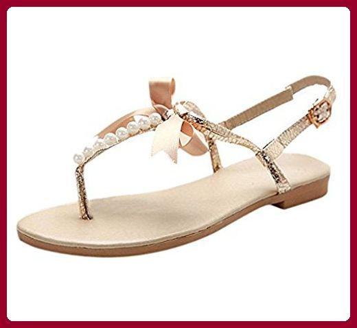 Neu Mädchen Sandalen Sommer Sandaletten mit Strasssteinen und Glitzer