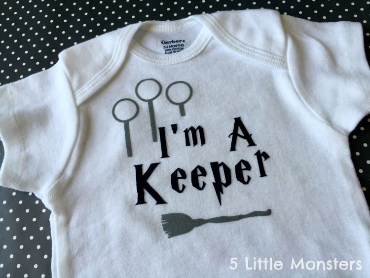 c8ccfa9bf Ideas for geeky baby onesies including 2 free Cricut Design Space cut  files, one Harry Potter and one Doctor Who.