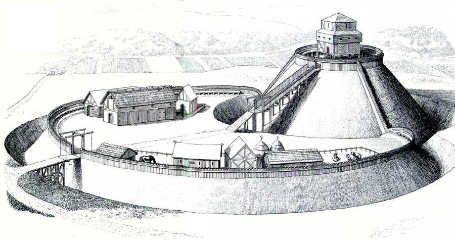 Motte And Bailey Motte Burg Turm