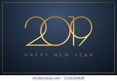 Classy 2019 Happy New Year Background Golden Design For Christmas And New Year 2019 Greeting Cards Vector Background In Gelukkig Nieuwjaar Nieuwjaar Teksten