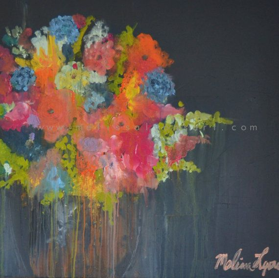 large floral painting // Melissa Lyons // boutique 419