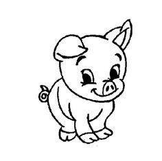 Pig Jpg 236 235 Pixels Cute Baby Pigs Pig Cartoon Animal Coloring Pages