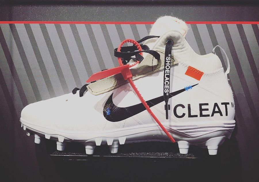 Check Out This Custom OFF WHITE x Nike Football Cleat Done