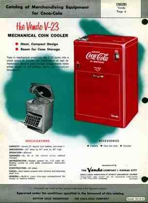 Coca Cola Vendo 23 Standard for 1957