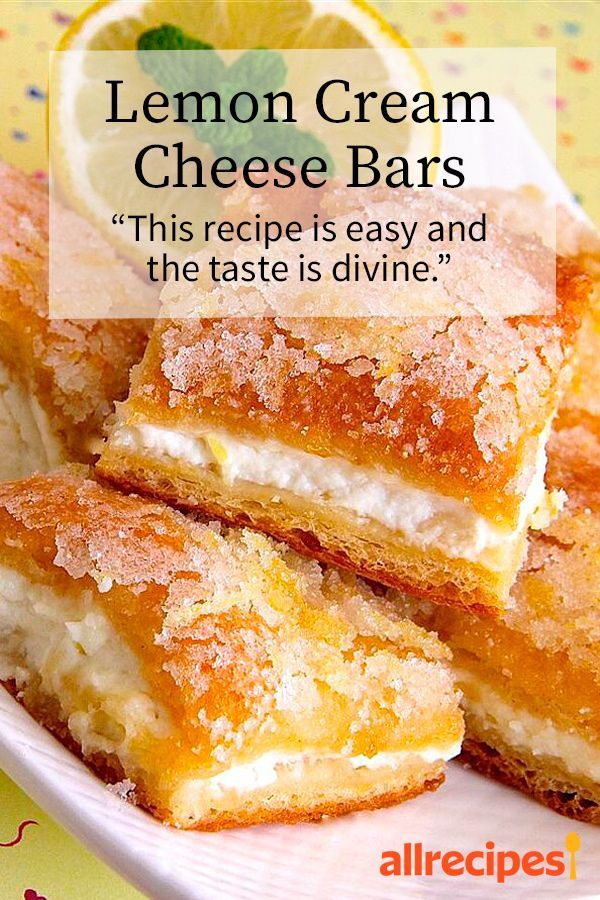 """dessert recipes 1970393574673418 -  Lemon Cream Cheese Bars   """"If you like a lemony dessert this is pretty easy and can be made ahead of time."""" #easter #easterrecipes #eastermenuideas #easterdessert  Source by allrecipes"""