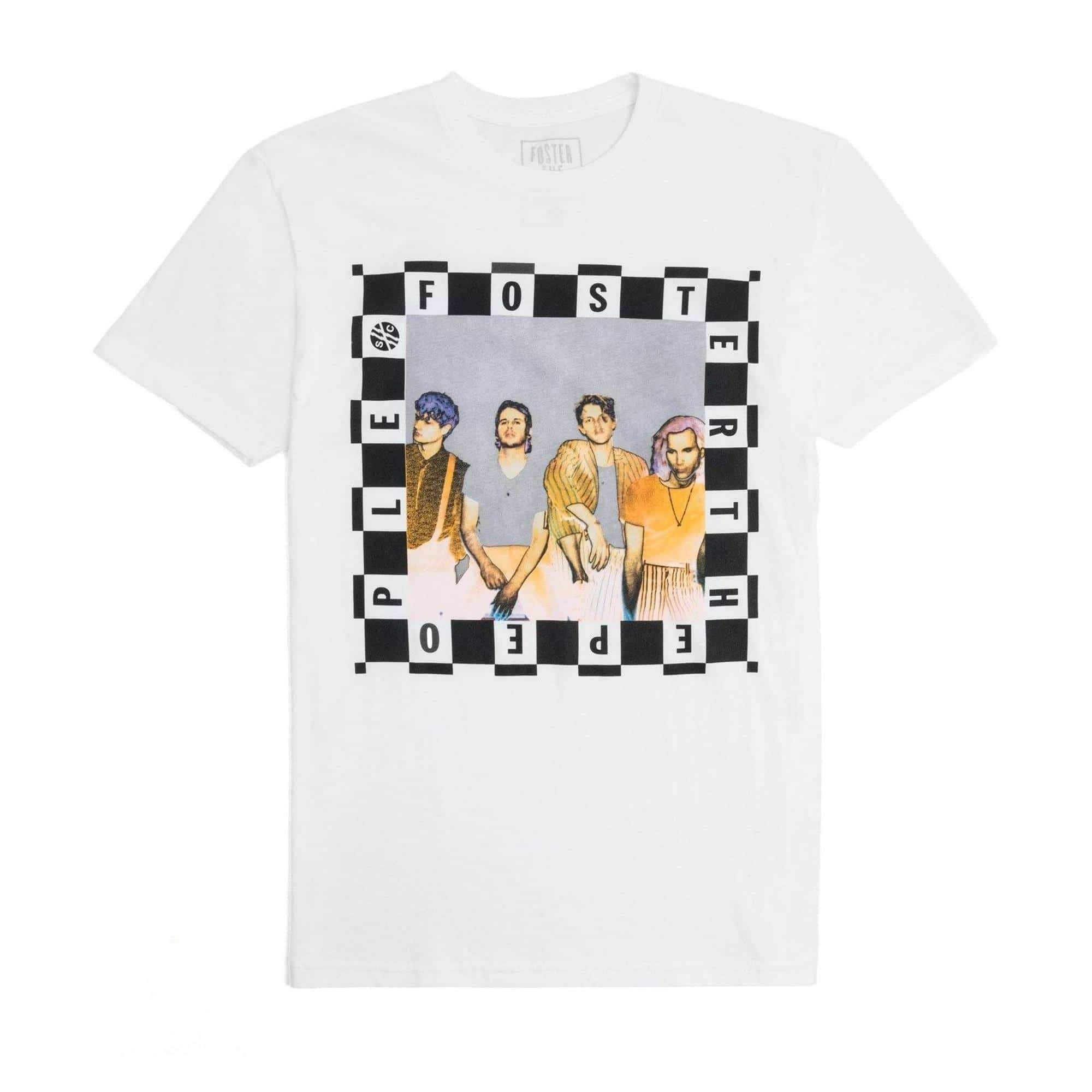 c042508db2 Foster the People  Checkered Portrait  Tee