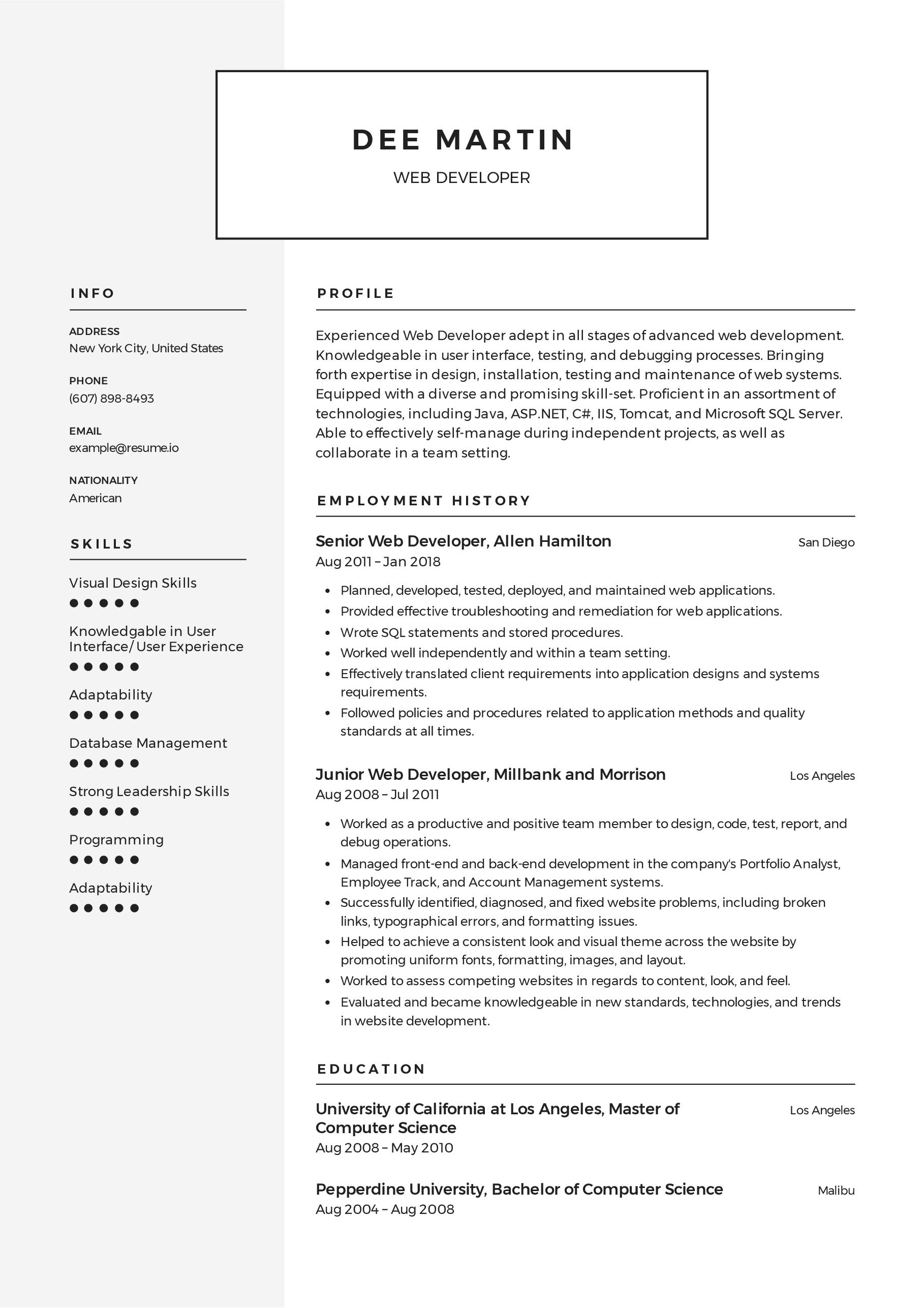 42+ Software engineer resume template google docs Format
