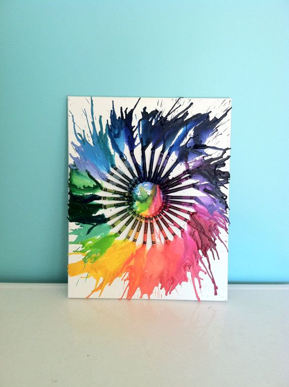holy roller novocaine melted crayon color wheel 25 00 via etsy