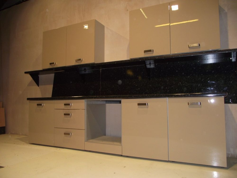 New High Gloss Cream Kitchen Units / Cabinets / Doors