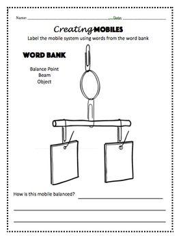 balancing mobiles foss kit lesson packet classroom ideas rh pinterest com Balance and Motion Worksheet Foss Balance and Motion Tops