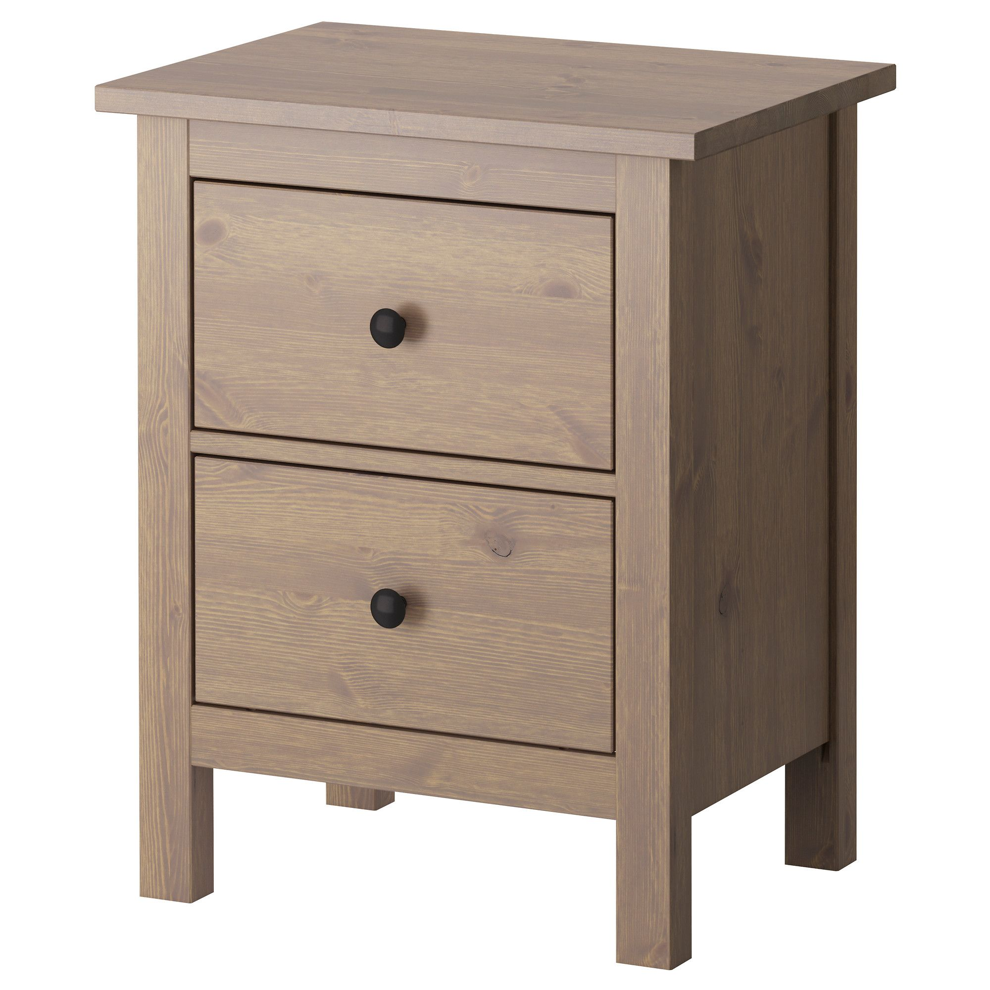 Hemnes 2 drawer chest white stain hemnes drawers and for Ikea comodino hemnes