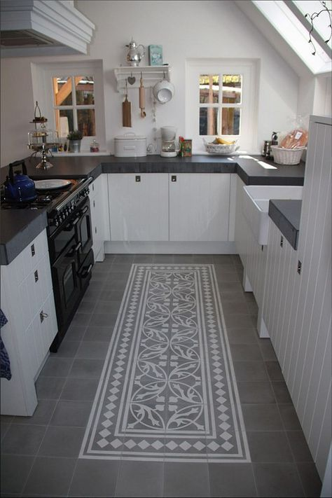 schwarz weiße Küche Höfe Pinterest Boden, Scandinavian living