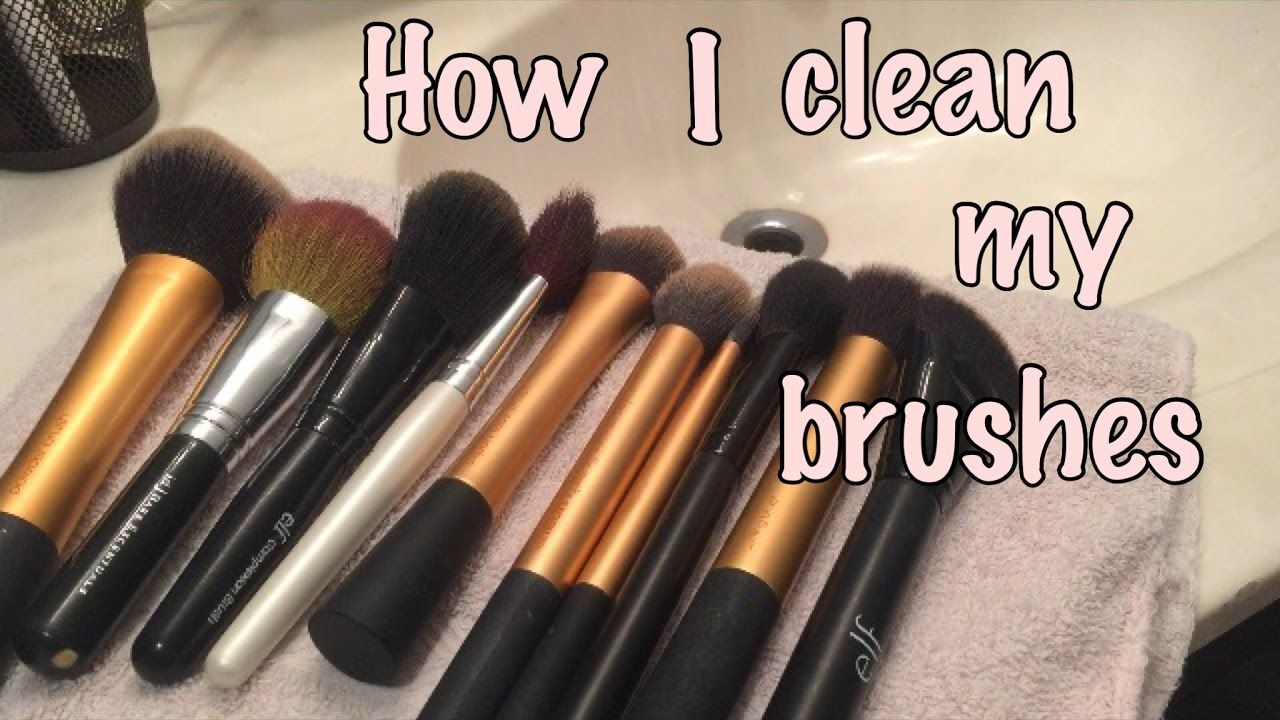 How I Clean my Makeup Brushes/ Product is under 7. How