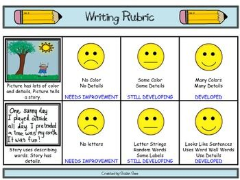 creative letter writing rubric