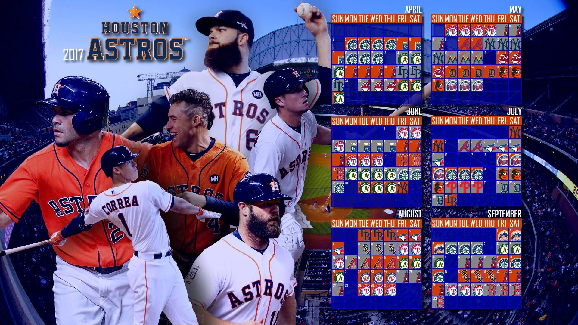 2017 Houston Astros Calendar Astros, Houston astros, Houston