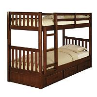 Twin Twin Bunk Bed Merlot Sam S Club House Ideas Bunk Beds