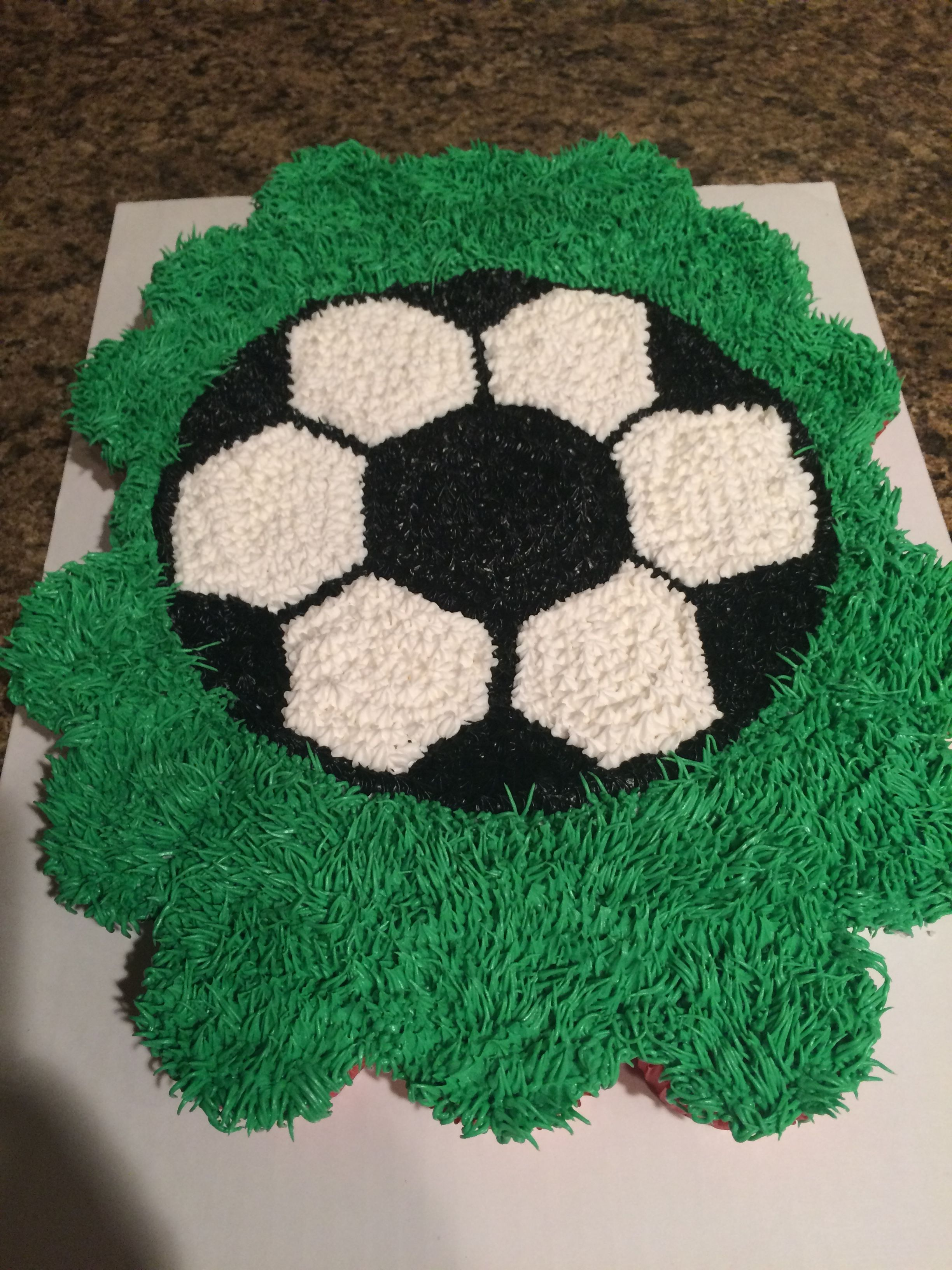 Soccer Cupcake Cake Soccer Birthday Cakes Cupcake Cakes Soccer Cupcakes