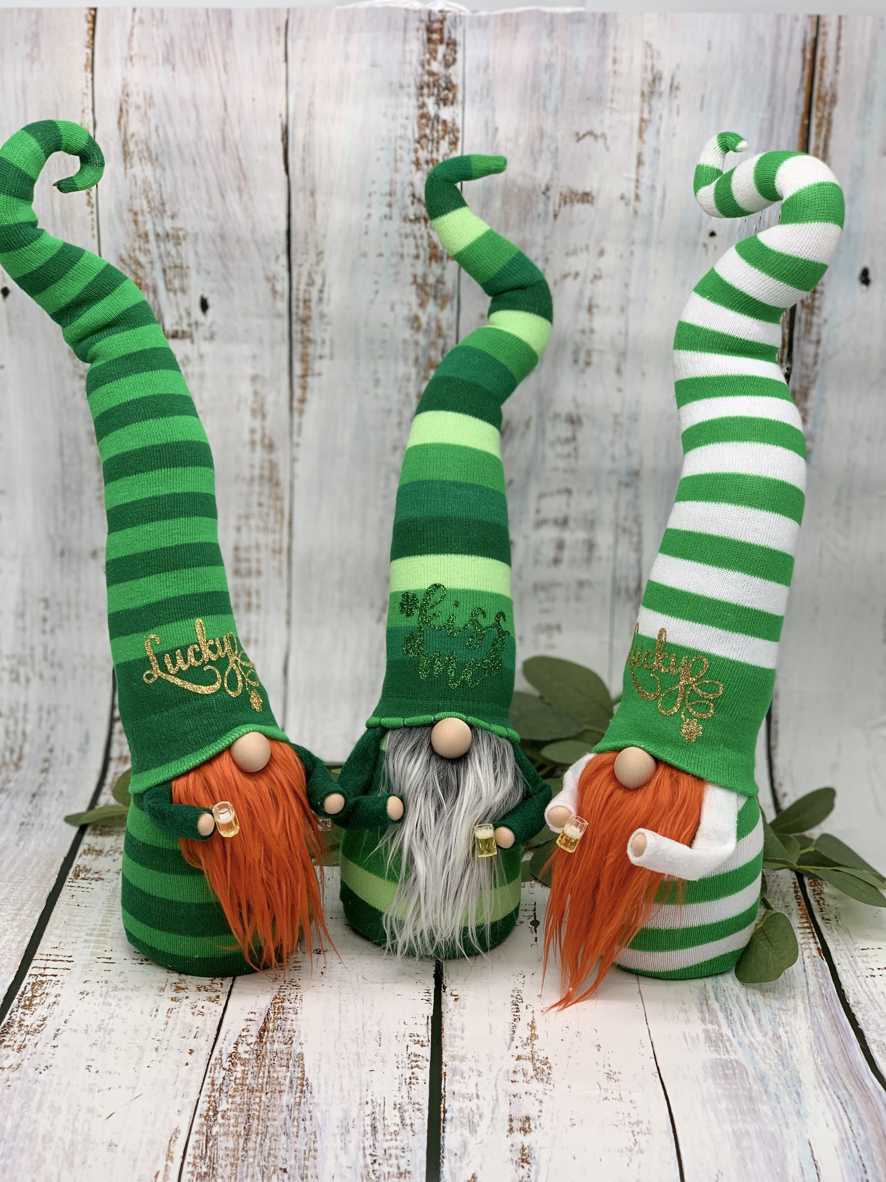 Download St. Patrick's Day party gnomes in 2020 | Gnomes, Handmade ...