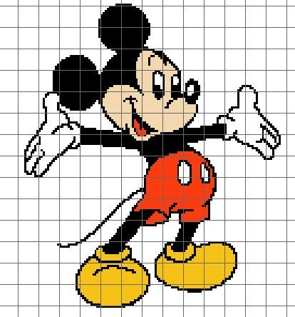 Mickey Mouse Graph/Chart by LilyGirlCreations on Etsy
