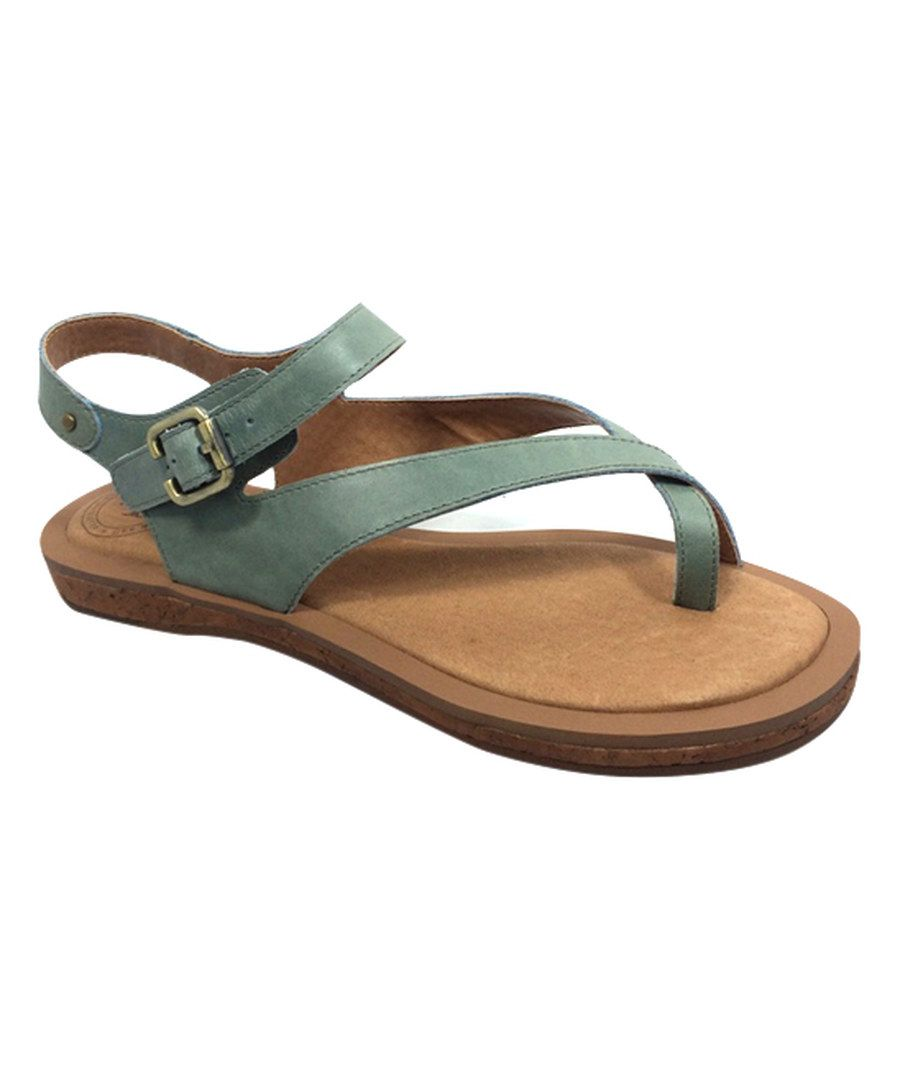 3f046053ff6b Look at this Gee WaWa Jade Montana Leather Sandal on  zulily today ...