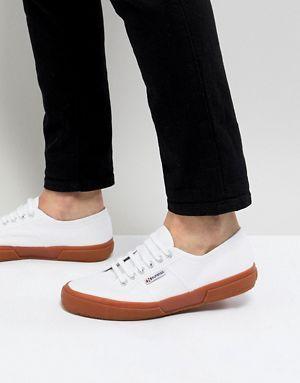 Zapatillas de deporte de lona blanca clásicas con suela de goma 2750 de Superga WhtU2f