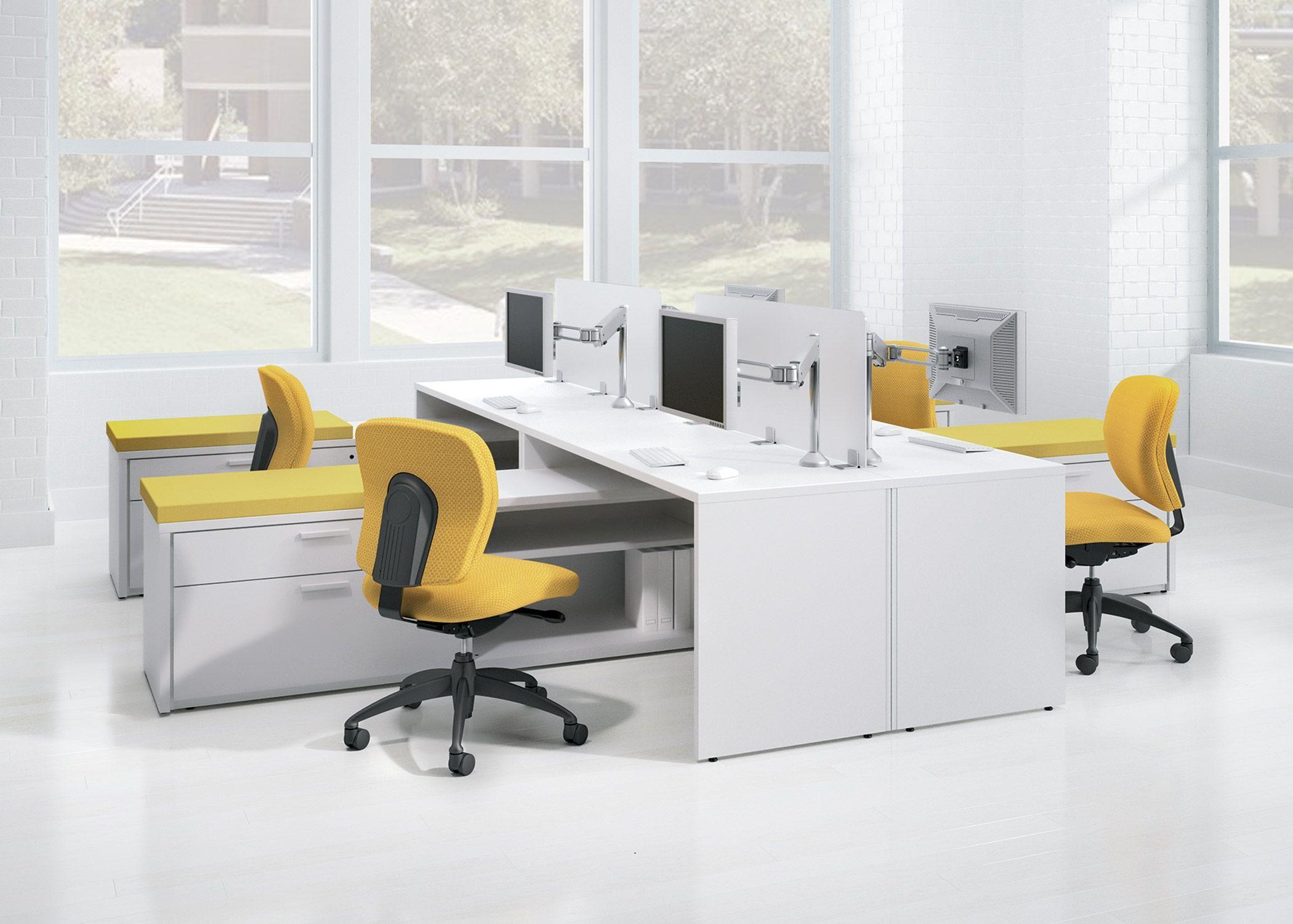 Great White Laminate Office Desk