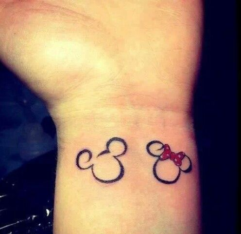 Micky minnie tattoo