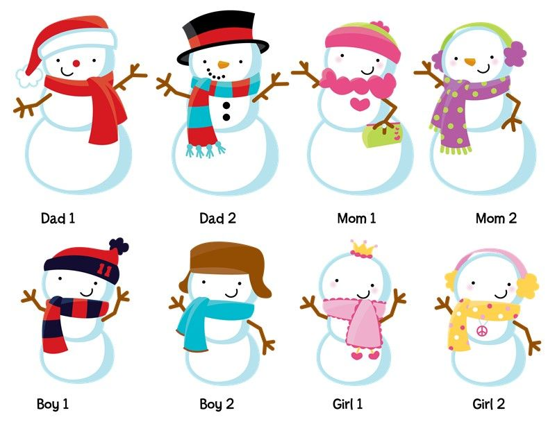 snowman family with snowflakes personalized christmas banners rh pinterest co uk snowman family clipart snowman family clipart