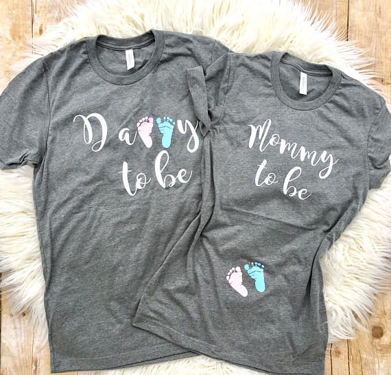 320b5481 Couples pregnancy Announcement shirts, Preggers Shirt, Couples shirt, Mommy  to Be Shirt, Mom to Be, Pregnancy Reveal, New Mom, new dad Shirt