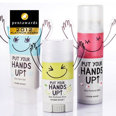 Put your hands up! When the sell commitment, the slogan, the name and the packaging meet, this product pop up. Flashy colours, Smiley faces and plastic arms make these cosmetics catchy and fun. This very simple but expressive idea of the raised plastic arms gives the product its peculiarity and originality. The aim should be young people who buy cosmetics for the first time and the packaging address them a comforting message through this very friendly and joyful sticks.