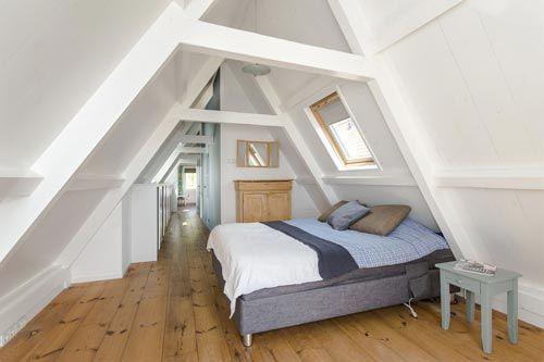 landelijke zolder slaapkamer | slaapkamer ideeën - zolder | pinterest, Deco ideeën