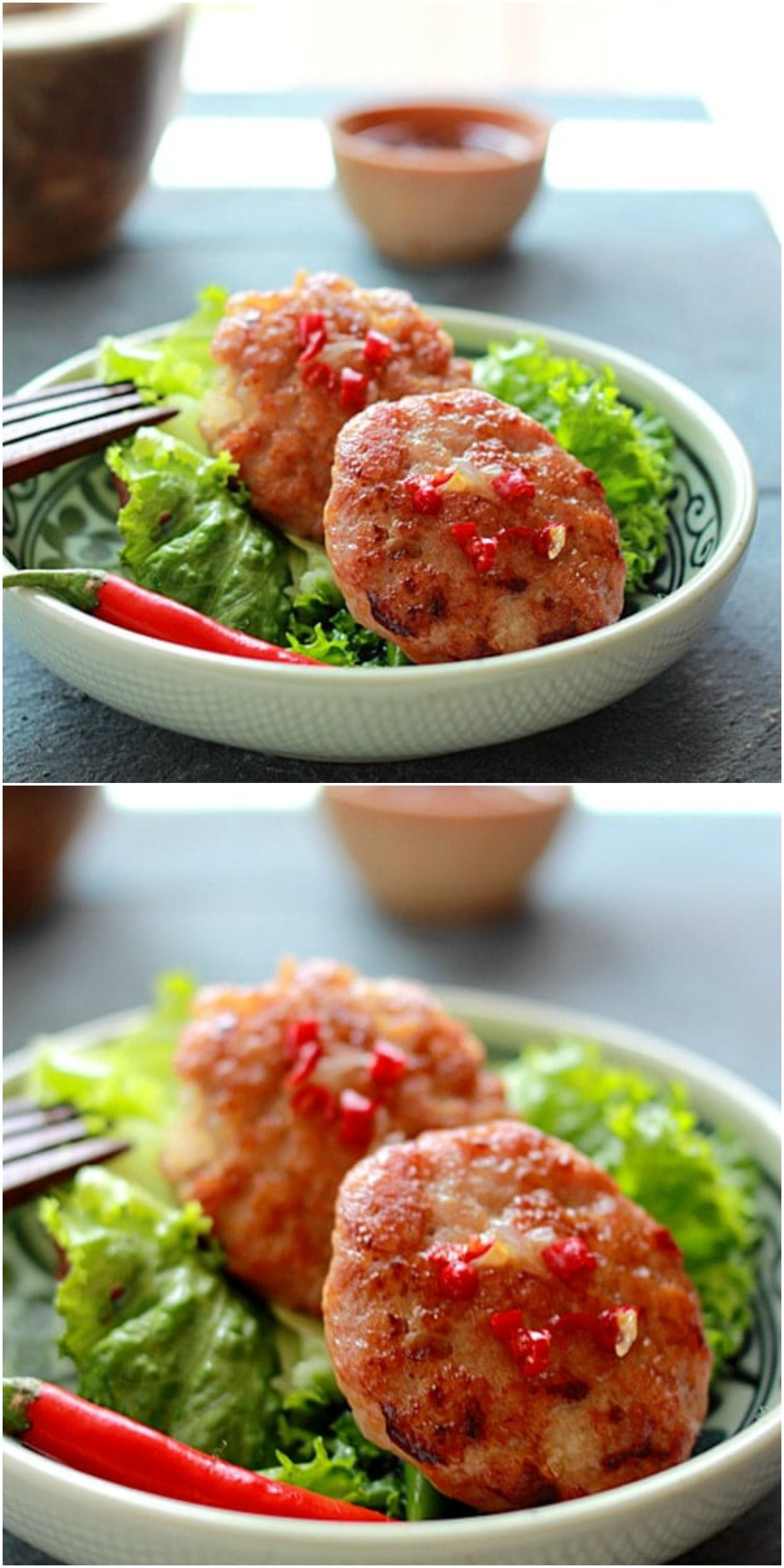 Chicken sausage lettuce wraps perfectly panfried