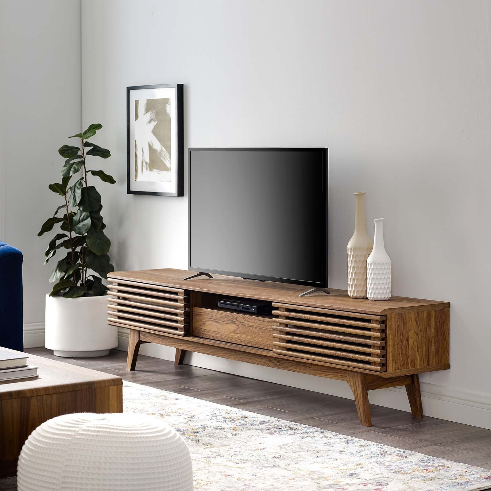 Modway Render 70 Tv Stand In 2021 Tv Stand Decor Living Room Tv Stand Wood Tv Stand Decor