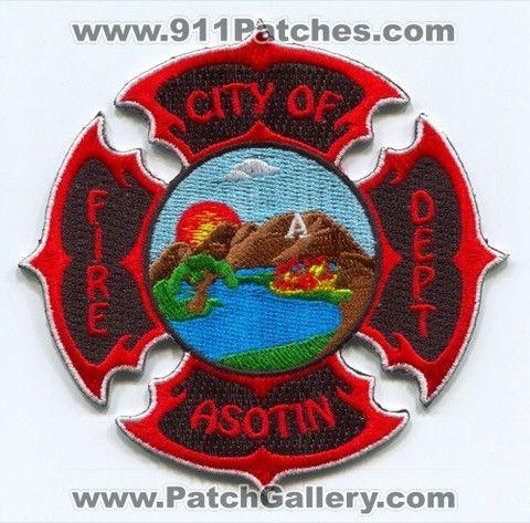 Asotin Fire Department Patch Washington WA