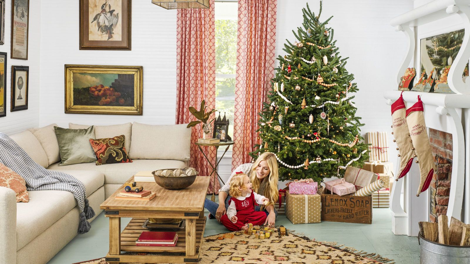 90 Best Christmas Decoration Ideas For The Merriest Home On The Block Simple Christmas Decor Christmas Decorations Living Room Farmhouse Christmas Decor Living room holiday decor