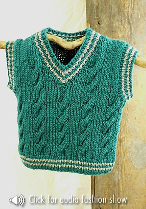 Free Pattern This Cable Vest Is Too Cute | Gotta love ...