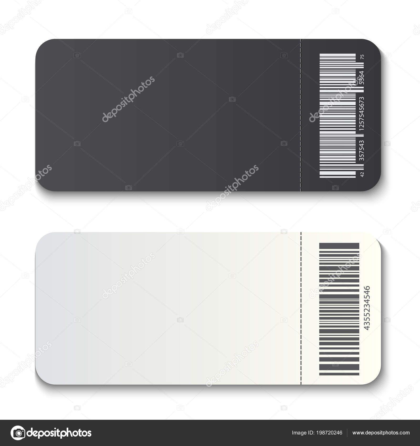 The Marvellous Creative Vector Illustration Of Empty Ticket Template Mockup Regarding B Ticket Template Free Business Card Templates Business Card Template Psd