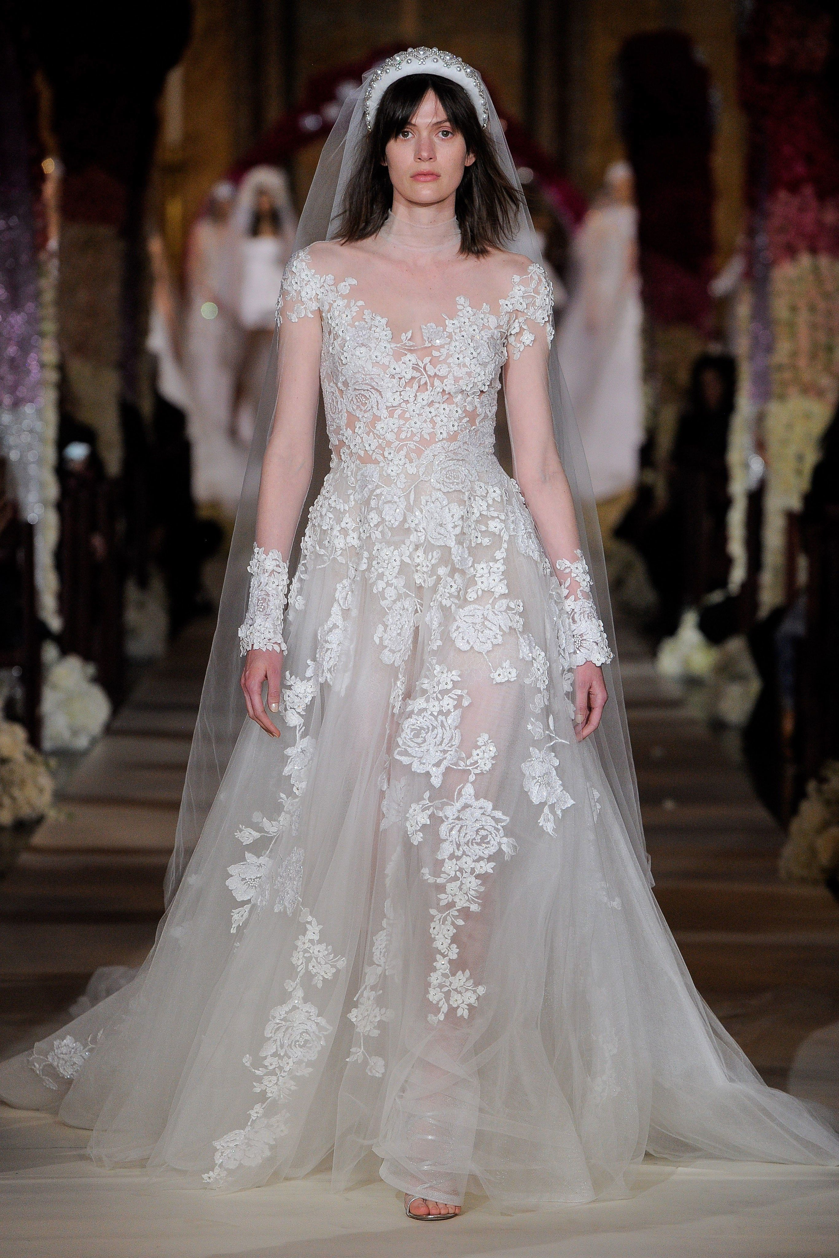 Reem Acra Bridal Spring 2020 Fashion Show Reem Acra Wedding Dress Trendy Wedding Dresses Reem Acra Bridal