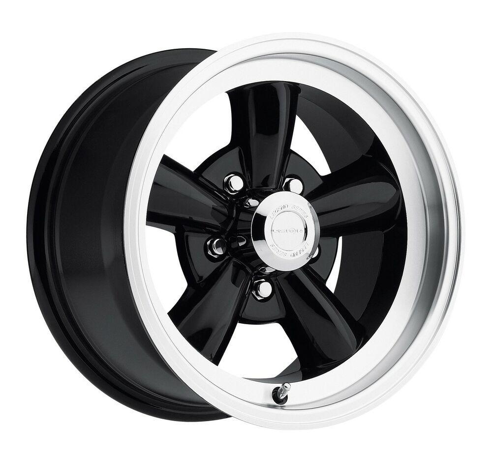 "15"" Vision 141 Legend 5 Black Machined Wheel 15x8 5x4.75"